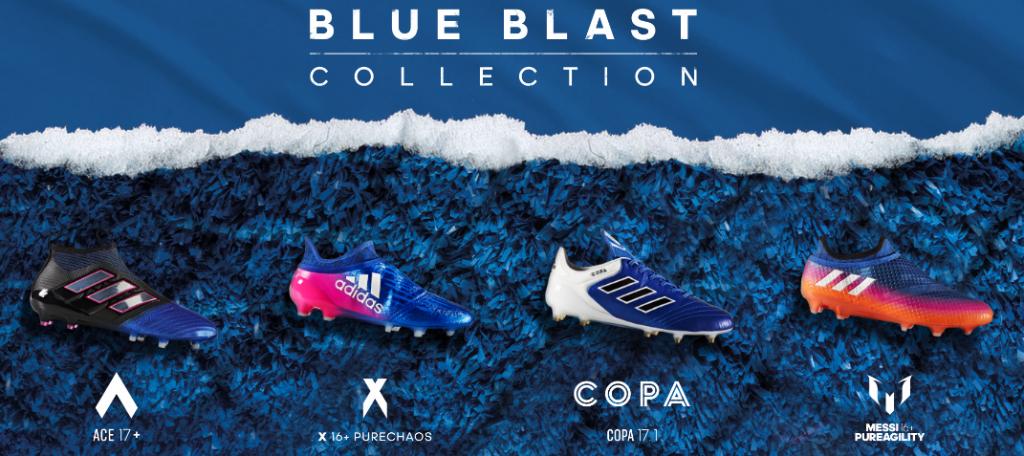 Adidas Blue Blast collection voetbalschoenen