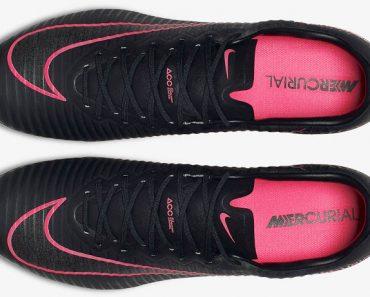 Zwart roze voetbalschoenen nike mercurial vapor xi