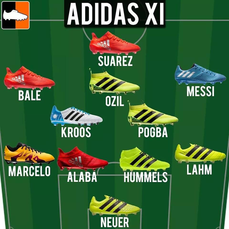 Adidas voetbalschoenen spelers