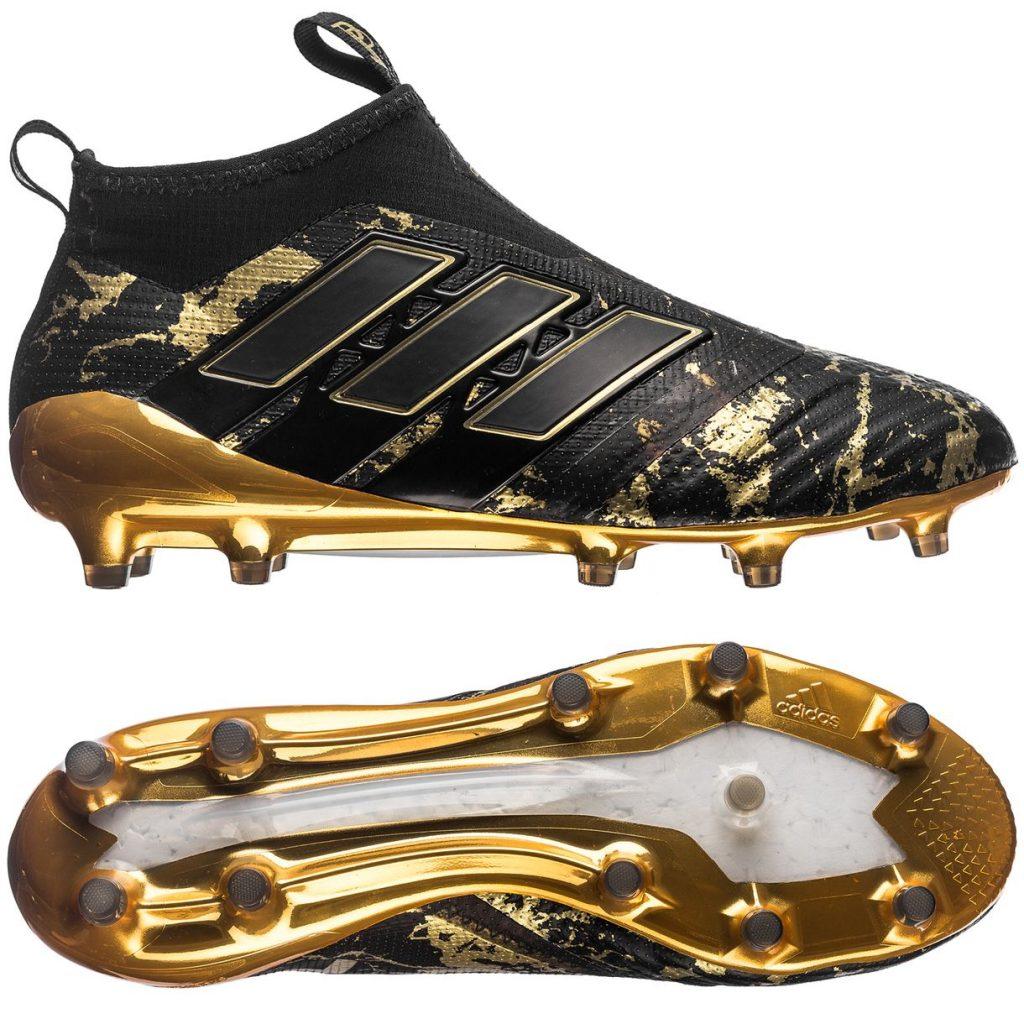 adidas ACE 17+ PureControl FG/AG Pogba Capsule Collection - Zwart/Goud Voetbalschoenen