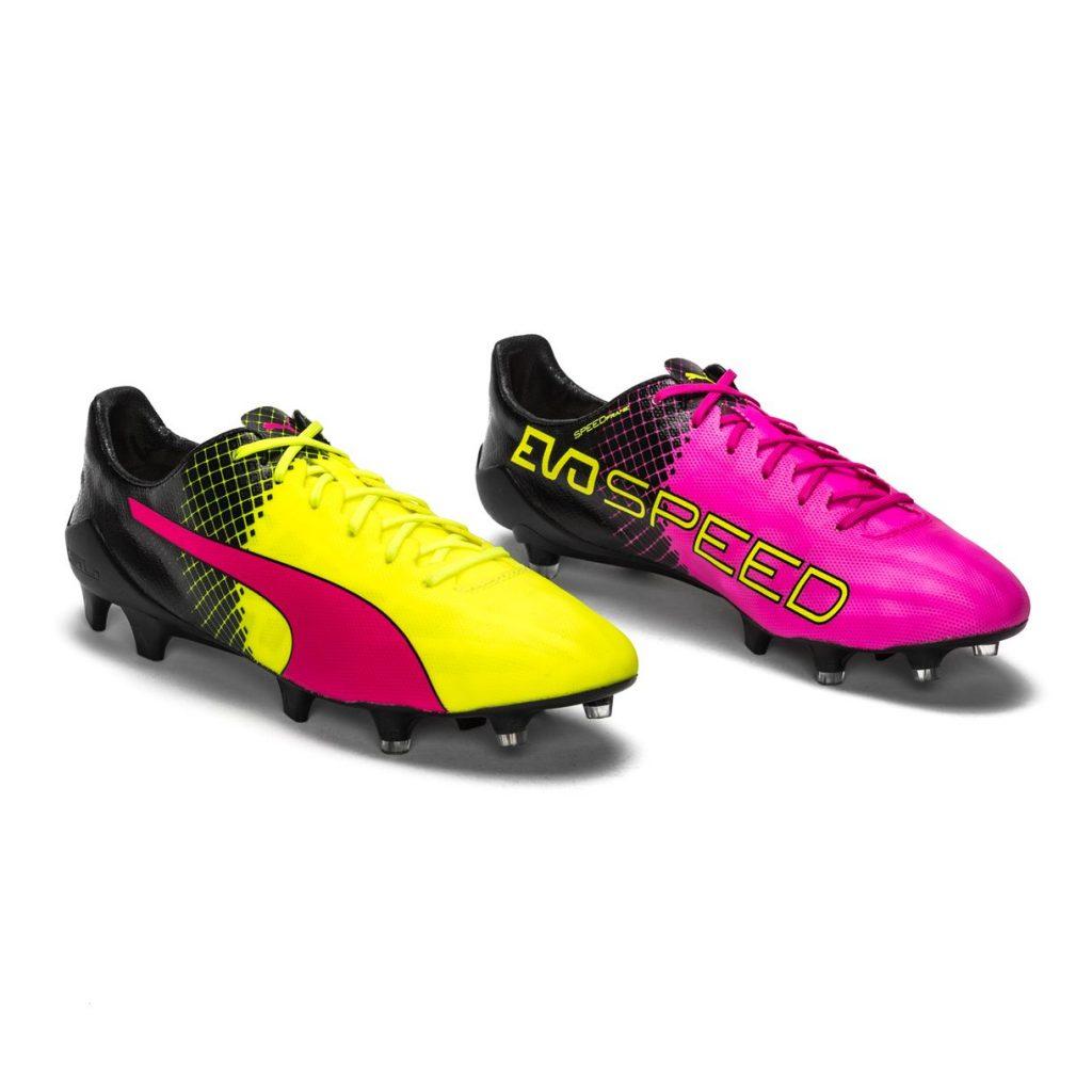 Puma zomervoetbalschoenen geel met roze