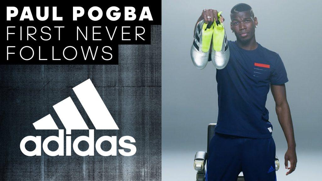 pogba-voetbalschoenen-zilver-met-geel-first-never-follows