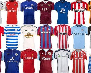 Top 10 voetbalshirtjes 2016-2017