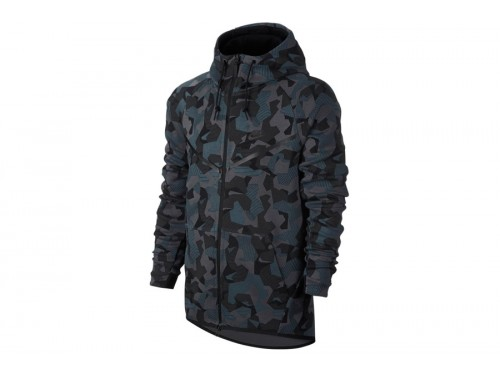 Nike tech fleece camouflage groen
