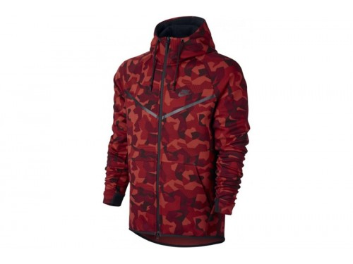 Nike tech fleece camouflage rood