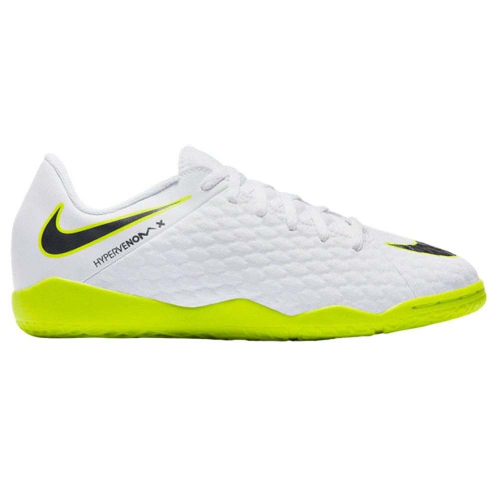 nike hypervenom phantom iii academy indoor kids white
