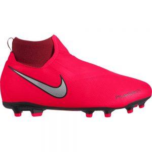 Nike PHANTOM VSN ACADEMY DF MG Voetbalschoenen Kids Rood Zwart Grijs