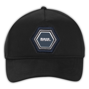 BALR. Q-Series Metal Hexagon Badge Cap Black