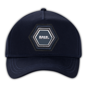 BALR. Q-Series Metal Hexagon Badge Cap Navy