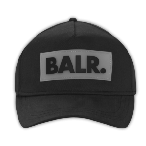 BALR. Rubber Box Logo Cap Black