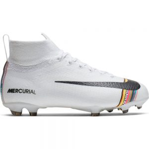 Nike Mercurial Superfly 6 ELITE FG Voetbalschoenen Kids Wit Zwart Platinum