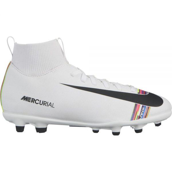 Nike Mercurial Superfly 6 CLUB FG Voetbalschoenen Kids Wit Zwart Platinum