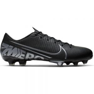 Nike Mercurial Vapor 13 ACADEMY FG Voetbalschoenen Zwartgrijs Metallic