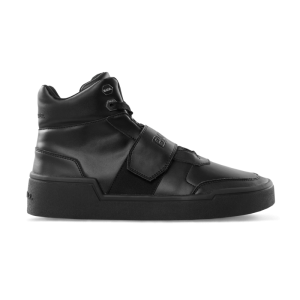 BALR. Leather Big Strap Sneakers High Black