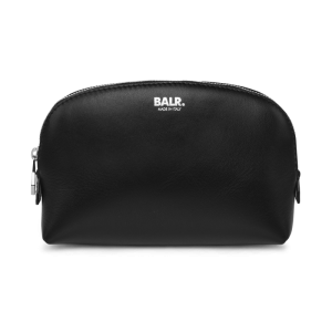 BALR. Leather Cosmetics Pouch - Black