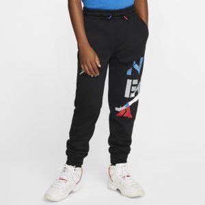 Air Jordan Jongensbroek met boorden - Zwart
