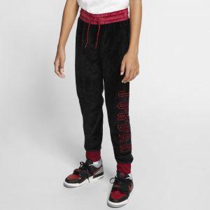 Air Jordan Meisjesbroek van velours met boorden - Zwart