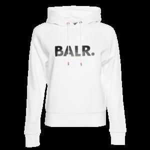 BALR. Brand Hoodie Women White/Rose