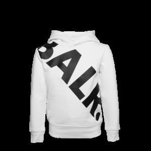 BALR. Tilted Logo Hoodie Kids White