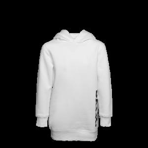 BALR. Vertical Brand Oversized Hoodie Girls White