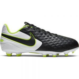 Nike Tiempo Legend 8 Academy Gras / Kunstgras Voetbalschoenen (MG) Zwart Zwart Wit Kids