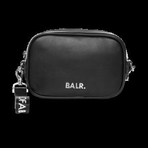 BALR. Silver Logo Shoulder Bag Black