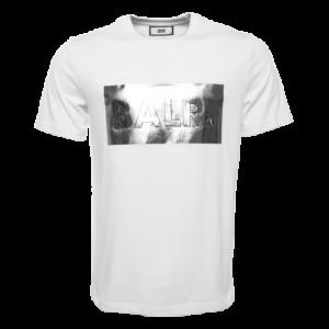 BALR. Silver club straight t-shirt White