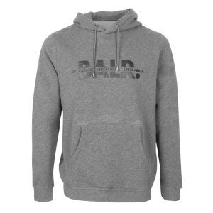 BALR. Crossed LOAB Straight Hoodie Grey - Grey