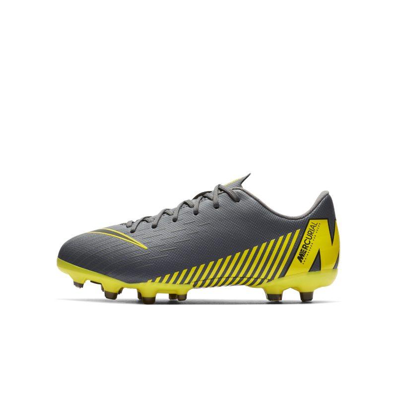Nike Jr. Mercurial Vapor XII Academy Voetbalschoen voor kleuterskids (meerdere ondergronden) Grijs