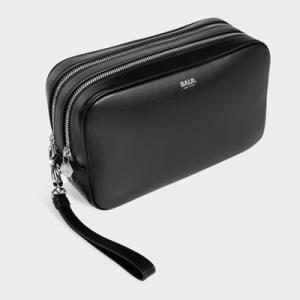 BT Leather Toiletry Kit Black