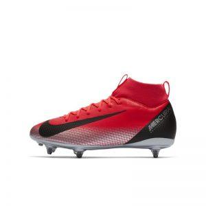 CR7 Jr. Superfly 6 Academy (SG) Voetbalschoen voor kleuters/kids (zachte ondergrond) - Rood